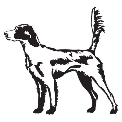 English Setter In The Field Hunting Dog Decal - Sporting dog decals