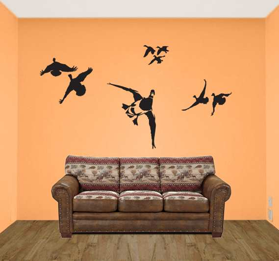 Hunting scene wall decals hunting wall murals 2016 for Duck hunting mural