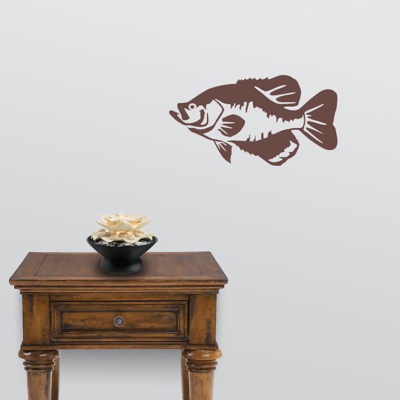 Black Wall Decals black crappie wall decal