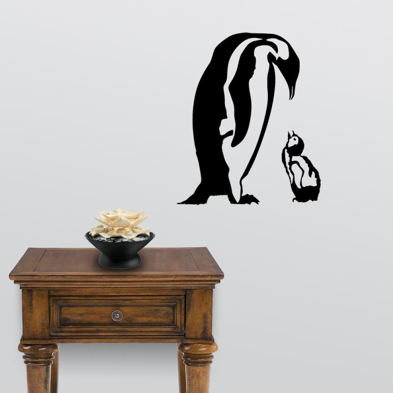 sc 1 st  Ident-I-Card Company & Penguin Mother and Child Detailed Wall Decal