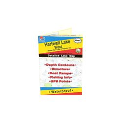 Waterproof fishing hot spots lake maps for the state of for Lake hartwell fishing hot spots