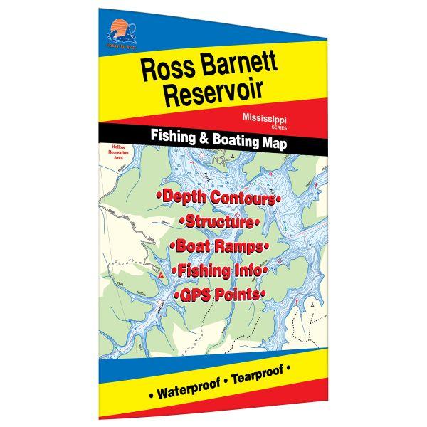 Mississippi ross barnett reservoir fishing hot spots map for Fishing hot spots maps