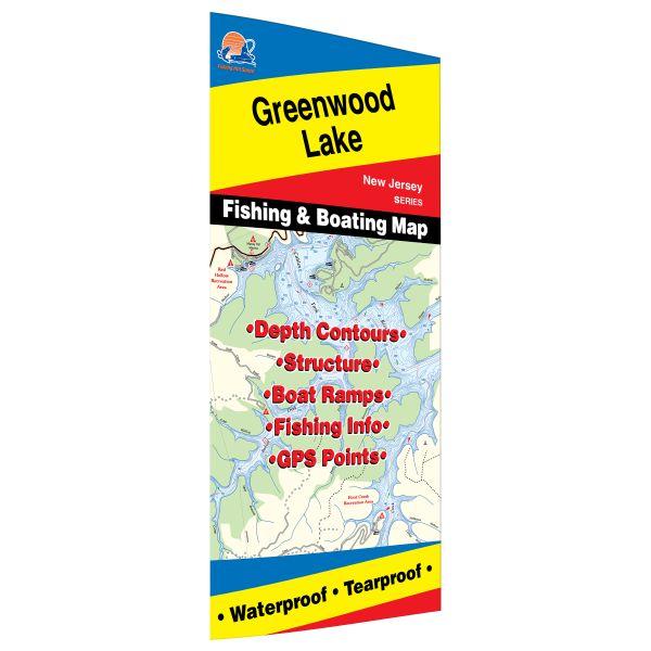 New Jersey Greenwood Lake Fishing Hot Spots Map