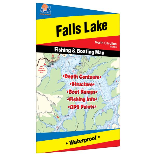 North carolina falls lake fishing hot spots map for Falls lake fishing