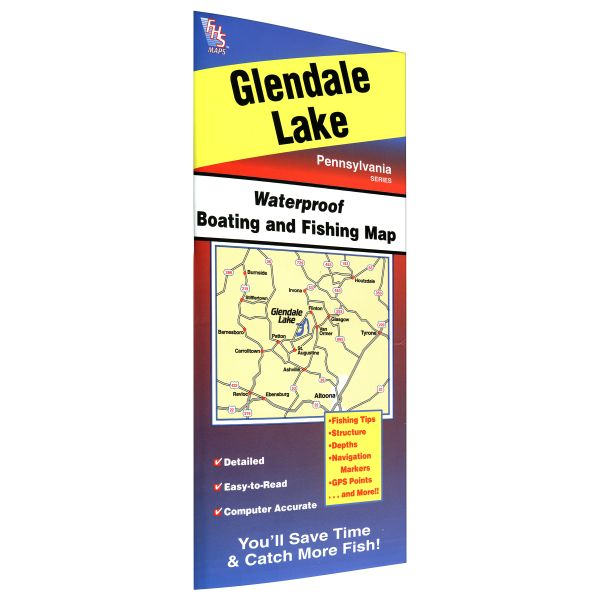 pennsylvania glendale lake fishing hot spots map