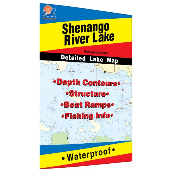 pennsylvania shenango river lake fishing hot spots map. Black Bedroom Furniture Sets. Home Design Ideas