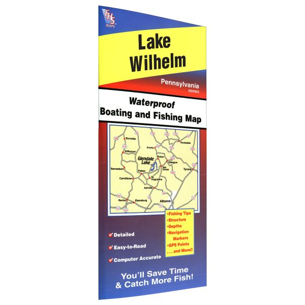 Pennsylvania wilhelm lake fishing hot spots map for Lake wilhelm fishing