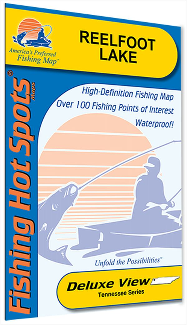 Reelfoot Lake Tennessee Map.Tennessee Reelfoot Lake Fishing Hot Spots Map
