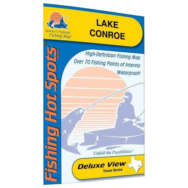 Texas conroe lake fishing hot spots map for Lake conroe fishing spots