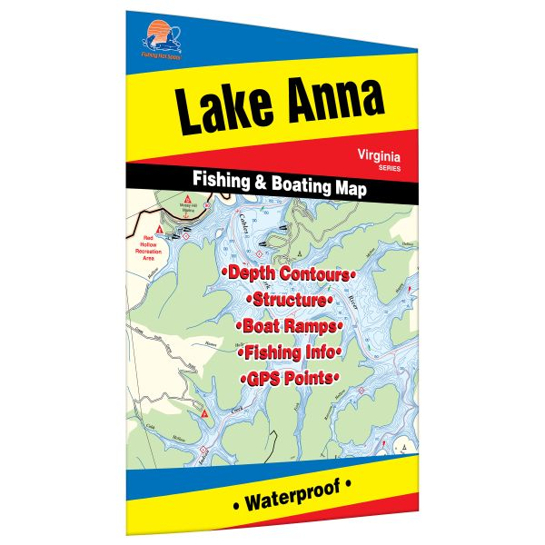 Virginia anna lake fishing hot spots map for Lake anna fishing