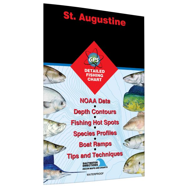 Florida St Augustine Palm Coast To South Ponte Vedra Beach Fishing Hot Spots Map