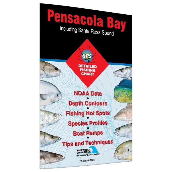 Map Florida Pensacola.Florida Pensacola Bay Including Santa Rosa Sound Fishing Hot Spots Map