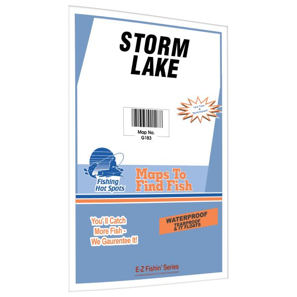 Iowa Storm Lake Fishing Hot Spots Map