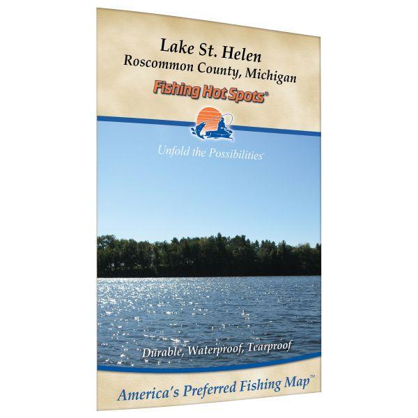 Michigan St Helen Lake Fishing Hot Spots Map