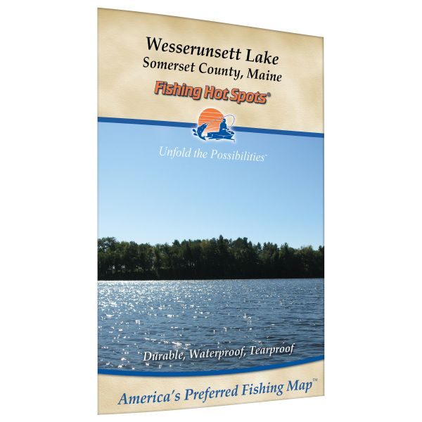 Maine wesserunsett lake fishing hot spots map for Fishing areas near me
