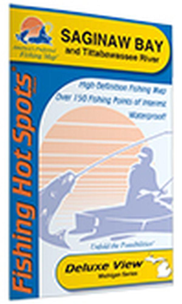 michigan saginaw bay fishing hot spots map