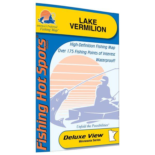 Lake Vermillion Minnesota Map.Minnesota Vermilion Lake Fishing Hot Spots Map