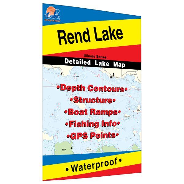 Rend Lake Illinois Map.Illinois Rend Lake Fishing Hot Spots Map