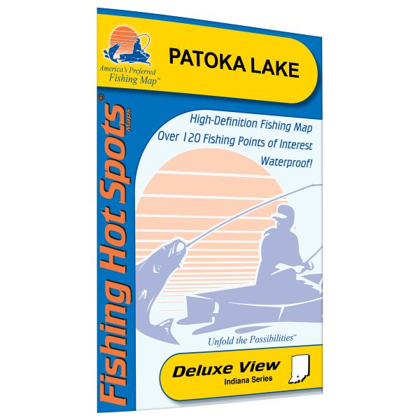 Indiana patoka lake fishing hot spots map for Fishing hot spots maps