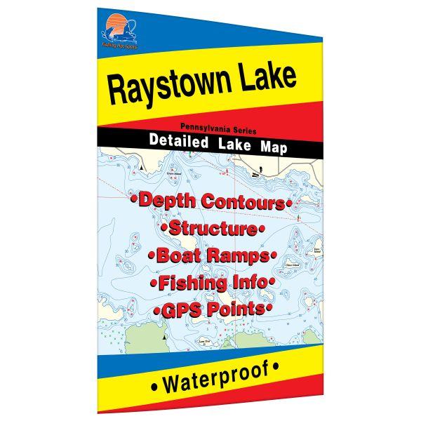 Pennsylvania Raystown Lake Fishing Hot Spots Map - Fishing hotspot maps