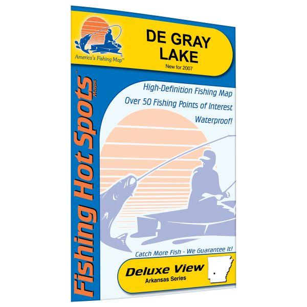 Arkansas DeGray Lake Fishing Hot Spots Map