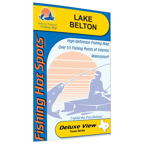 Texas Belton Lake Fishing Hot Spots Map