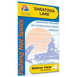 Saratoga New York Map.New York Saratoga Lake Fishing Hot Spots Map