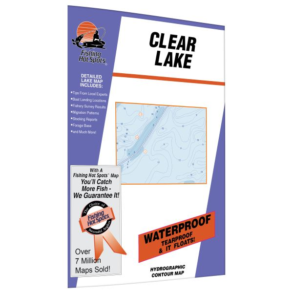 Iowa clear lake fishing hot spots map for Clear lake iowa fishing