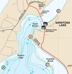 New York Keuka Lake Fishing Hot Spots Map - Fishing hotspot maps