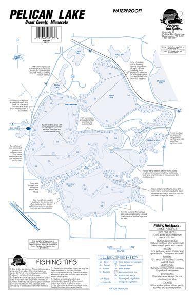 Minnesota hubert lake fishing hot spots map for Fishing hot spots maps