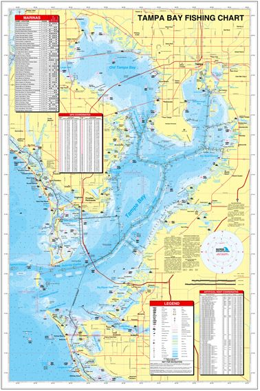 florida tampa bay fishing hot spots map