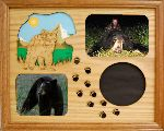 Bear and Bear Tracks 11x14 Horizontal Picture Frame