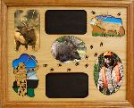 Bow Hunting Elk Montage 11x14 Horizontal Picture Frame