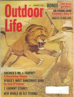 Vintage Outdoor Life Magazine - Febuary, 1964