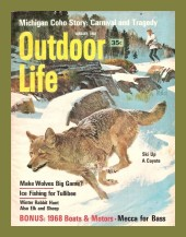 Vintage Outdoor Life Magazine - January, 1968